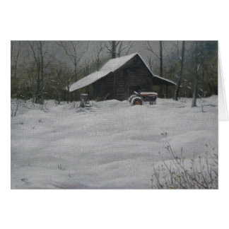 Snow on the Smokehouse Card