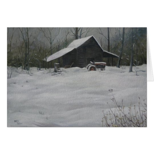 Snow on the Smokehouse Card