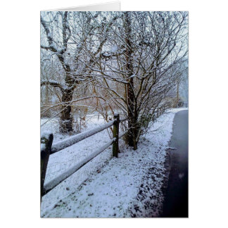 Snow on Water St Card