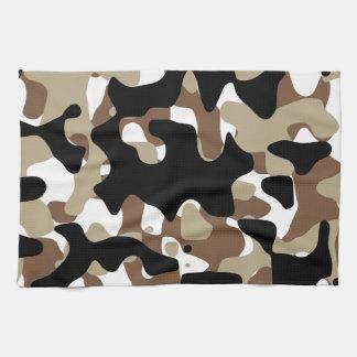 Snow open terrain  Camouflage Kitchen Towel