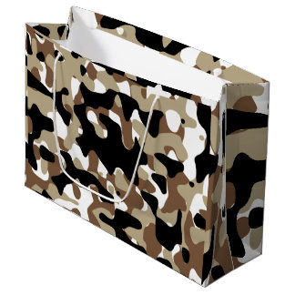 Snow open terrain  Camouflage Large Gift Bag