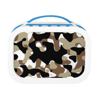 Snow open terrain  Camouflage Lunch Box