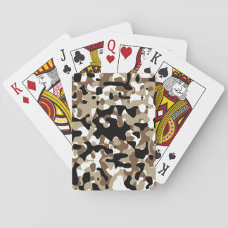 Snow open terrain  Camouflage Playing Cards