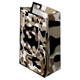 Snow open terrain  Camouflage Small Gift Bag