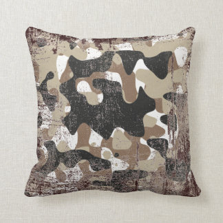 Snow open terrain  Camouflage Throw Pillow