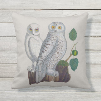 Snow Owls Arctic Conservation Outdoor Pillow 16x16