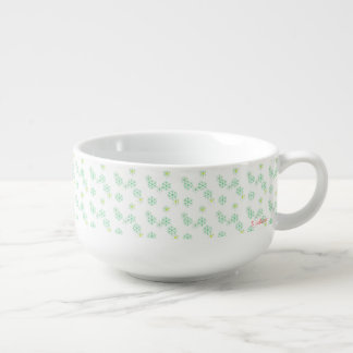 Snow pattern soup mug