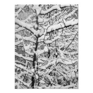 Snow Patterns BW Photo Print