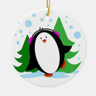 Snow Penguins Ornament