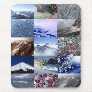 Snow Photo Collage Mouse Pad