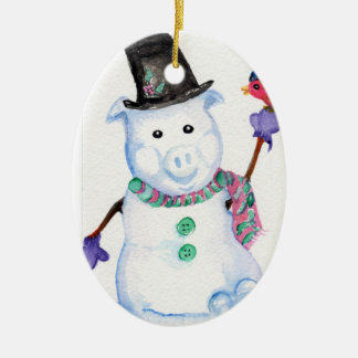 Snow Pig Ornament