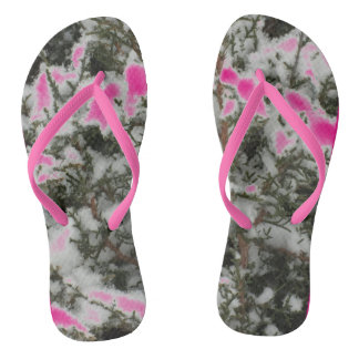 Snow Pine Choose Color Flip Flops