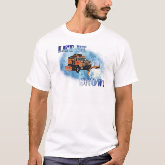 Snow Plow Design T-Shirt