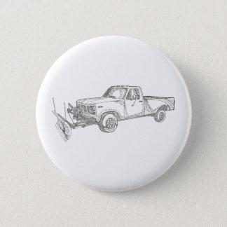 Snow Plow Truck Doodle Art 2 Inch Round Button