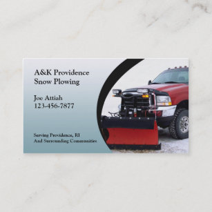 Snow Removal Business Cards Profile Cards Zazzle Ca