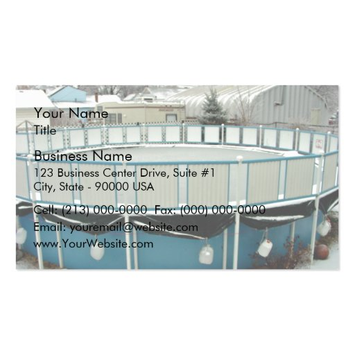 Snow Pool above Ground Business Card