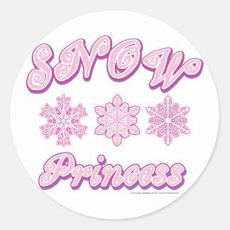 Snow-princess-on-Dark Classic Round Sticker