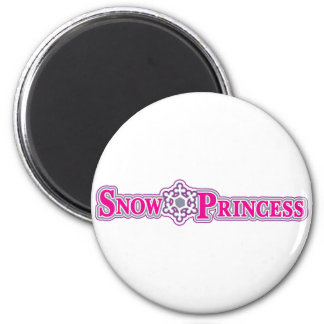 Snow-Princess-pink 2 Inch Round Magnet