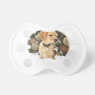 Snow Puppy Baby Pacifier