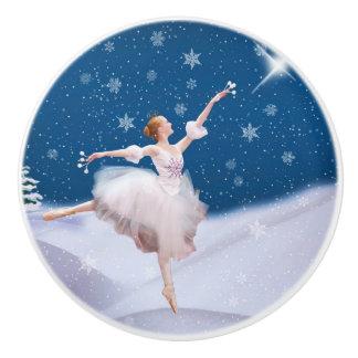 Snow Queen Ballerina Ceramic Knob