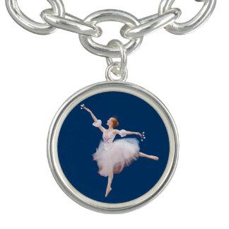 Snow Queen Ballerina Customizable Charm Bracelets