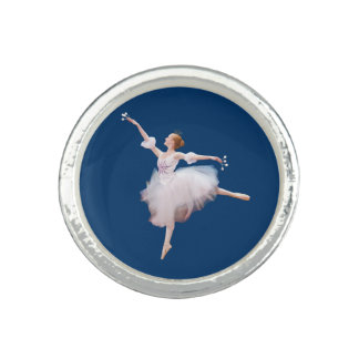Snow Queen Ballerina Customizable Photo Ring