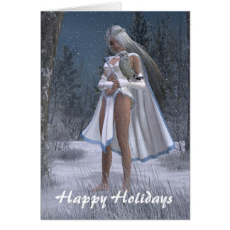 Snow Queen - Happy Holidays Card