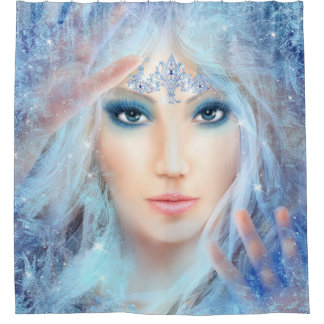 Snow queen. Ice beautiful Princess Shower Curtain