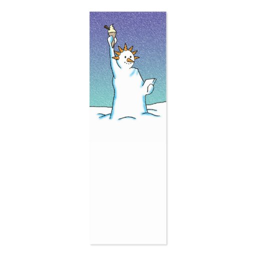 Snow Queen Note or Gift Business Card Template