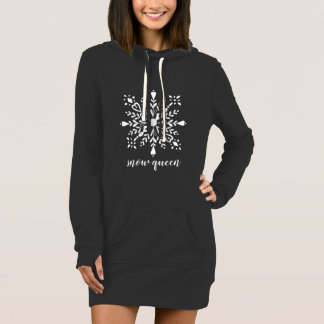 Snow queen Snowflake black and white Dress