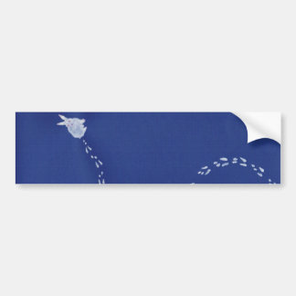 Snow rabbit bumper sticker