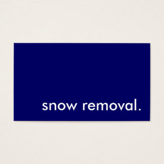 snow removal. business card
