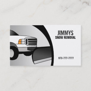 Snow removal business cards business card printing zazzle ca snow removal business cards colourmoves