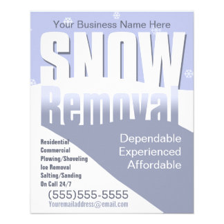 Snow Removal Plowing Customizable Template Flyer