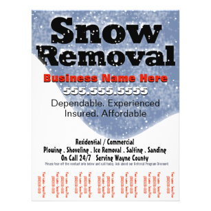 Snow Removal Plowing Tear Sheet Template 2