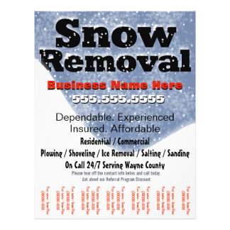 snow removal promotional flyers snow removal promotional flyer templates. Black Bedroom Furniture Sets. Home Design Ideas