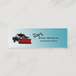 Snow removal business cards profile cards zazzle ca snow removal service skinny business cards colourmoves