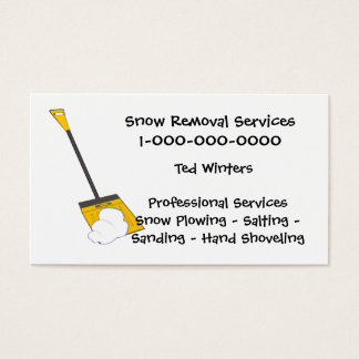 Custom plow business cards zazzle snow removal services business card colourmoves