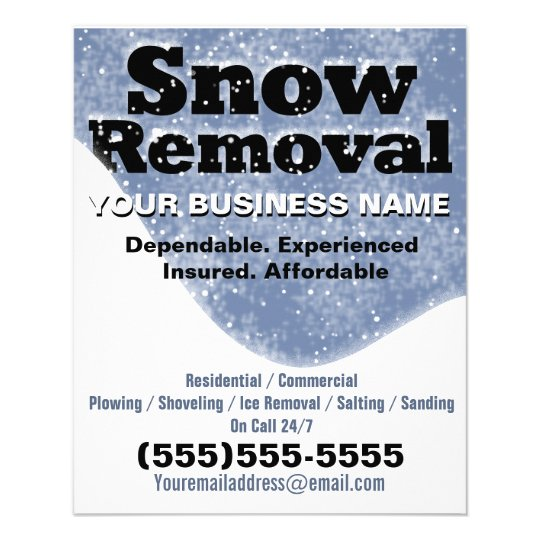 snow removal winter plowing template personalized flyer zazzle. Black Bedroom Furniture Sets. Home Design Ideas