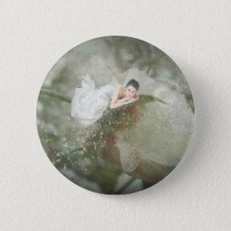 Snow Rose Fairy 2 Inch Round Button