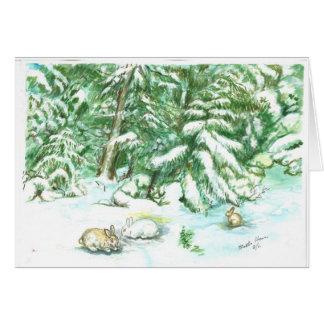 Snow scene in March on Mt. Siskyou Card