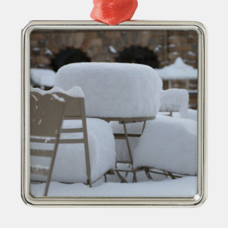Snow Scene Metal Ornament