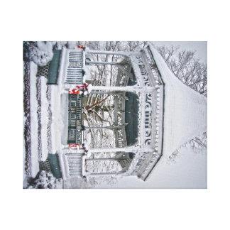 Snow Scene on Canvas