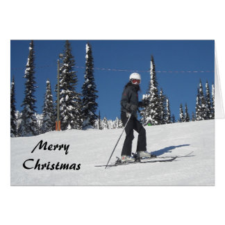 Snow Scene with Skier Card