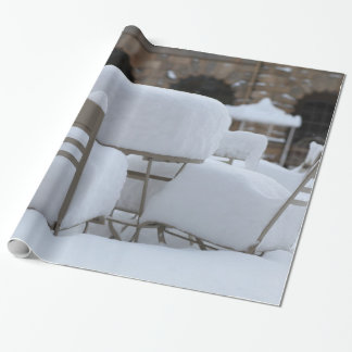 Snow Scene Wrapping Paper