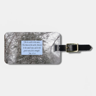 Snow Scripture Luggage Tag