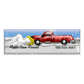 snow service business card templates