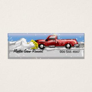 snow service mini business card