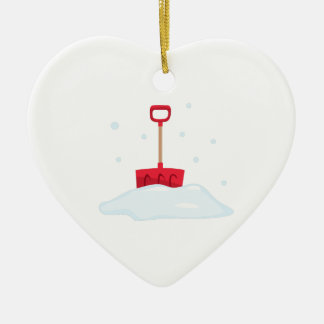Snow Shovel Ceramic Ornament