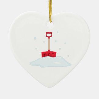 Snow Shovel Ceramic Ornament